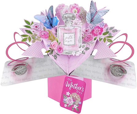 Pop Up Card - Mother's Day, Perfume Bottle