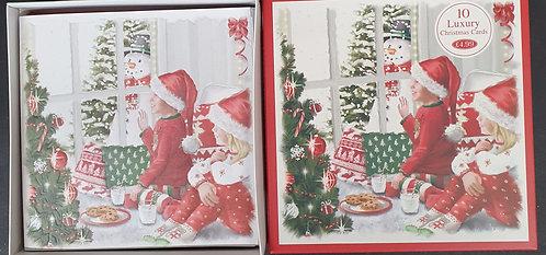 Multipack Box of 10 Luxury Christmas Cards - Cookies & Milk