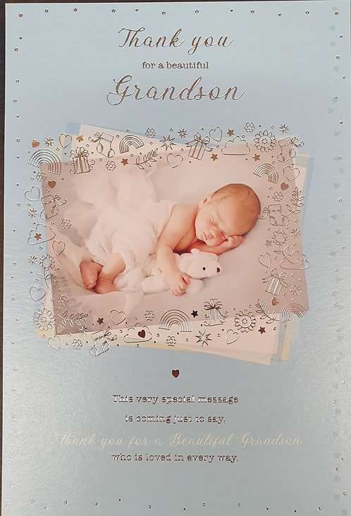 Thank You For A Beautiful Grandson Greeting Card
