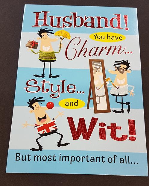 Husband humour Birthday Card