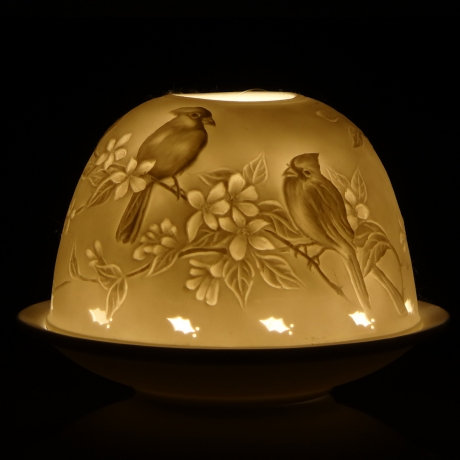 Nordic Lights Candle Shade - 2 Birds