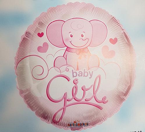 "18"" Baby Girl Balloon - Helium Filled"