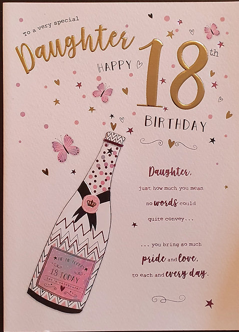 Daughter 18th Birthday Card