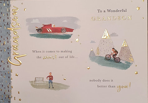 Grandson Birthday Greeting Card