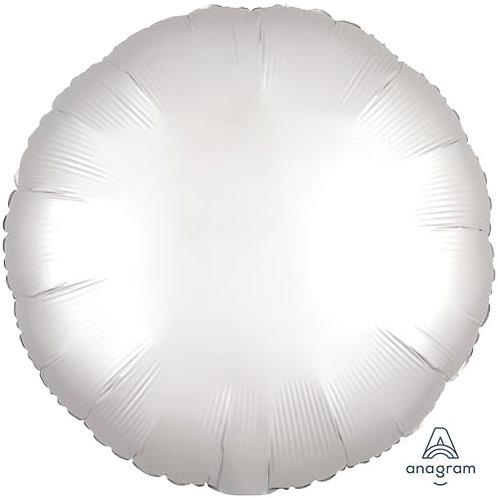 "18"" White Round -  Anagram Balloon - Helium Filled"
