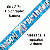 70th blue birthday banner by oaktree