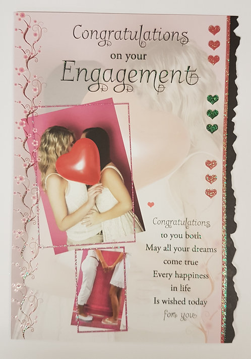 Female Engagement Greeting Card