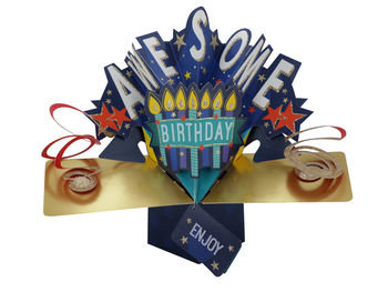 Awesome Birthday Pop Up Greeting Card