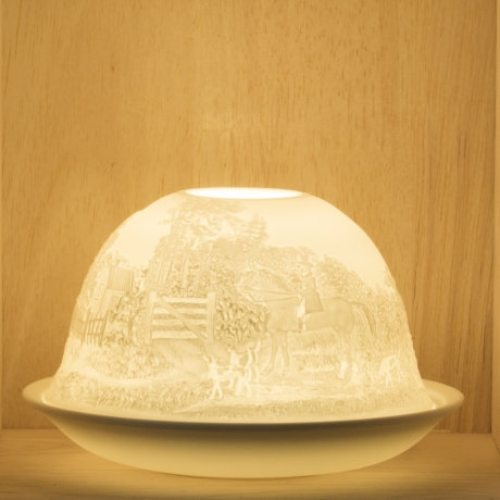 Nordic Light Candle Shade With Horses