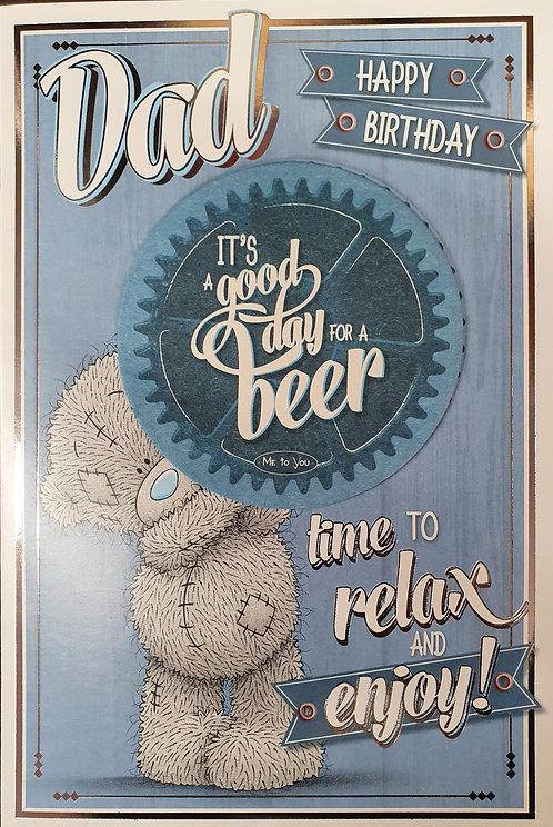 Dad Birthday Card With Beer Mat - Me to You