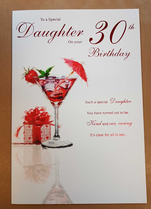 Daughter 30th Birthday Greeting Card
