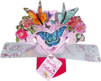 Birthday Butterflies Pop Up Card