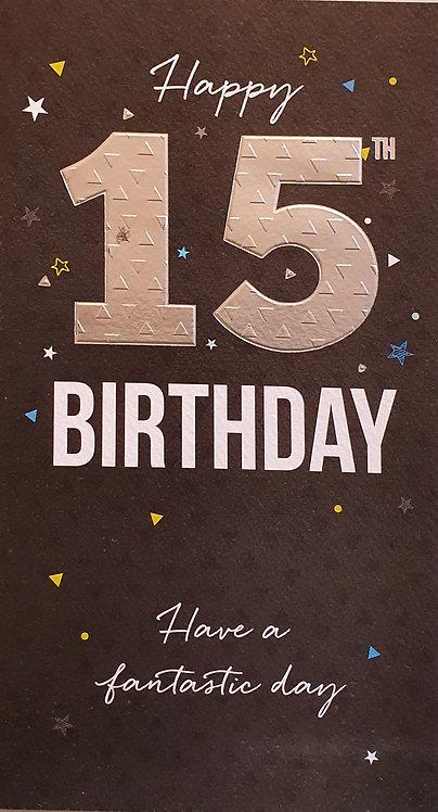 15th Male Birthday Card