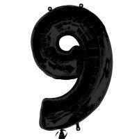 large black number 9 foil helium balloon