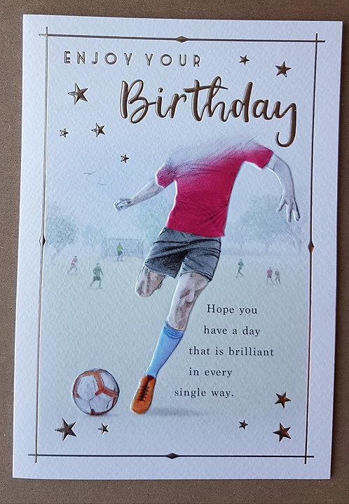 Male Birthday Greeting Card - Football