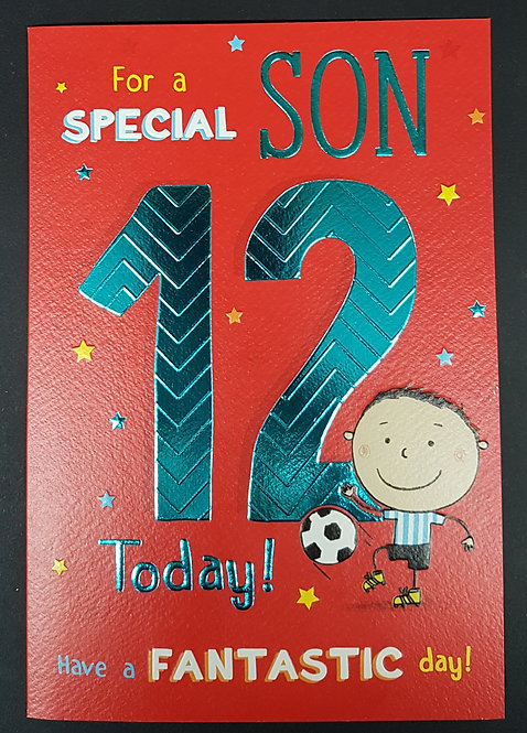 Son 12th Birthday Greeting Card