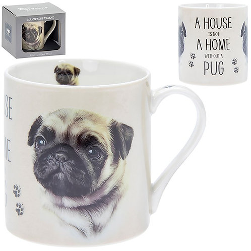 House and Home Fine China Mug - Pug