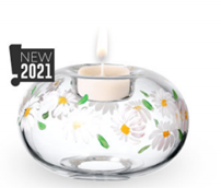 Daisy Glass Tea Light Holder by Nobile Glass and Giftware
