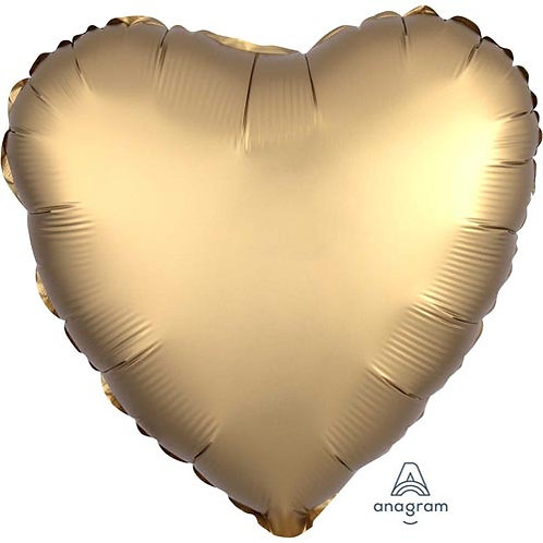 """18"""" Gold Heart -  Anagram Balloon - Helium Filled"""