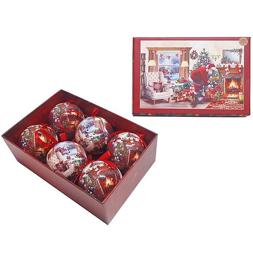 Macneil Santa Christmas  Baubles - Set of 6