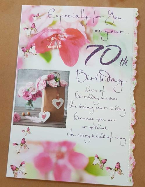 Female 70th Birthday Greeting Card