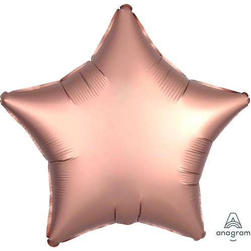 """18"""" Rose Copper Star -  Anagram Balloon - Helium Filled"""