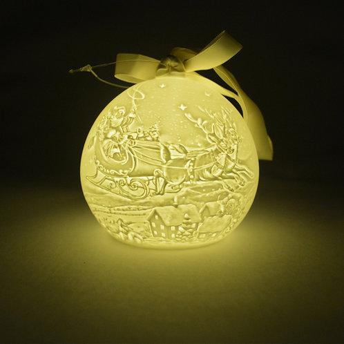 Nordic Lights Christmas Bauble - Santa Sleigh