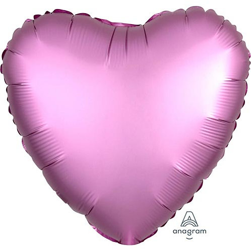 "18"" Flamingo Pink Heart -  Anagram Balloon - Helium Filled"