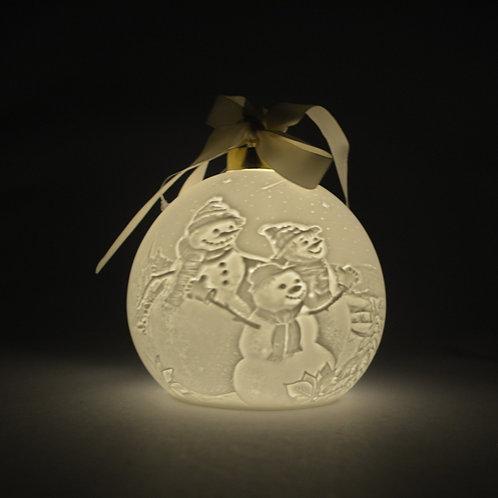 Nordic Lights Christmas Bauble - Snowman