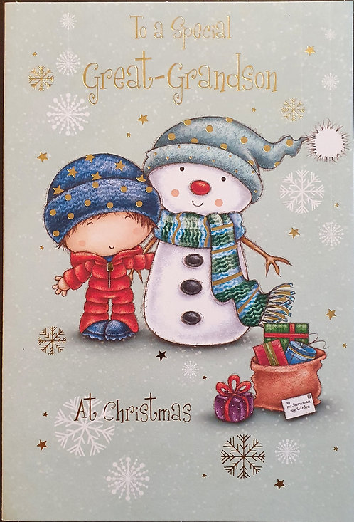 Great Grandson Christmas Greeting Card