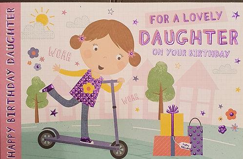 Juvenile Daughter Birthday Greeting Card