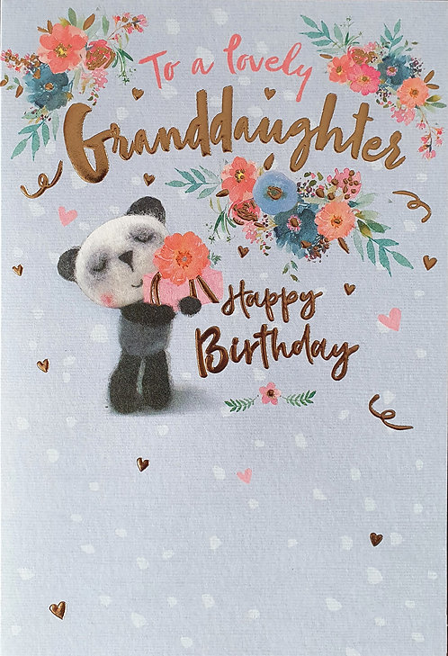 Granddaughter Birthday Greeting Card