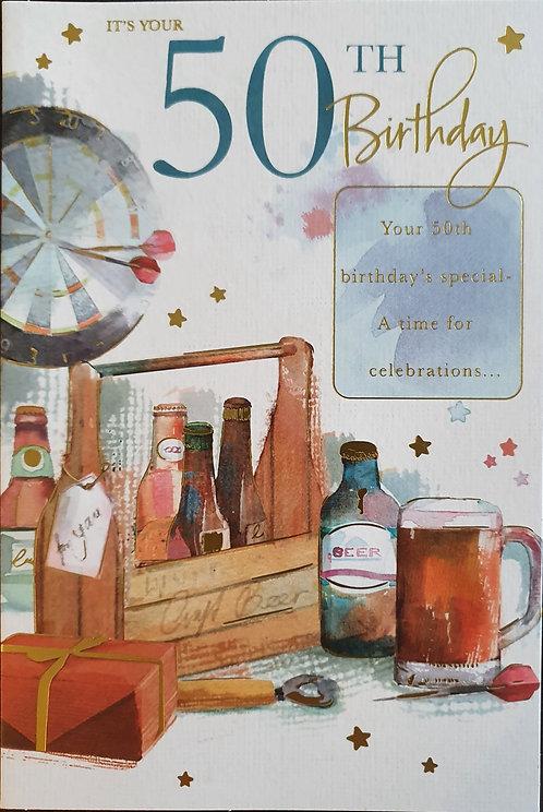 male 50th Birthday Card