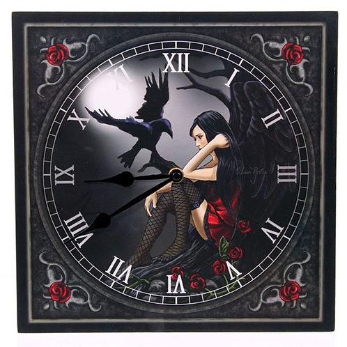 Wall Clock - Dark Angel by Lisa Parker