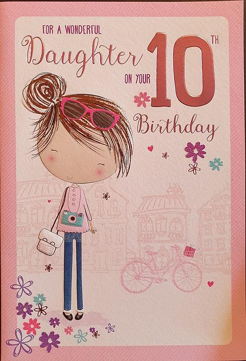 Daughter 10th Birthday Card