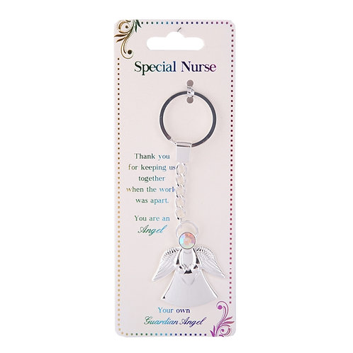 Guardian Angel Keyring - Special Nurse