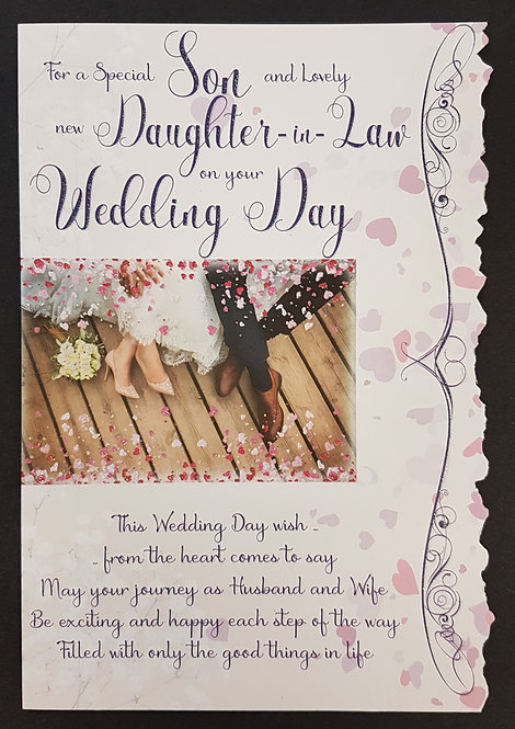 Wedding Day -  Son & Daughter-in-Law Greeting Card