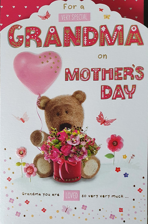Grandma - Mother's Day Greeting Card, Barley Bear