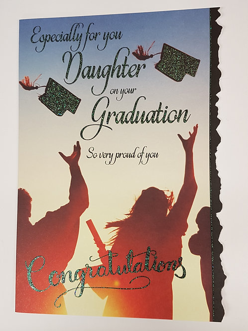 Graduation Greeting Card - Daughter