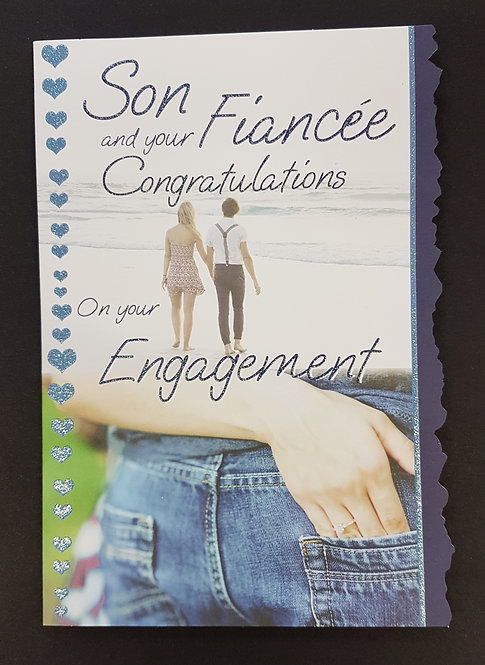 Engagement -  Son & Fiancee Greeting Card