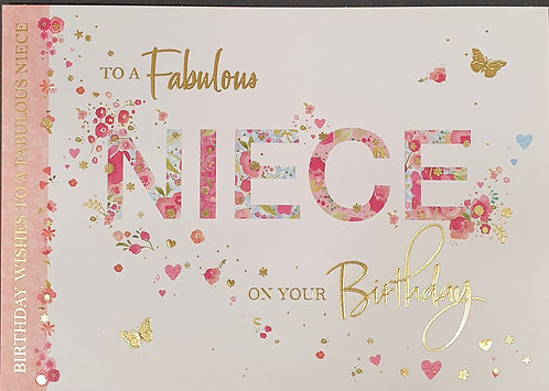 Niece Birthday Greeting Card With Butterflies