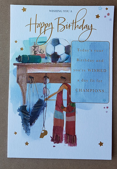 Male Birthday Greeting Card - Football
