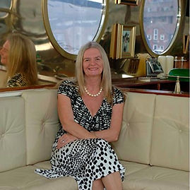 Valerie Austin on her yacht Flamant Rose