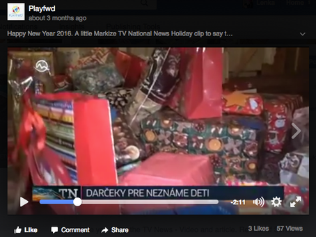 National TV News: Seeds For Dreams Holiday Gift and Food Drive, Slovakia