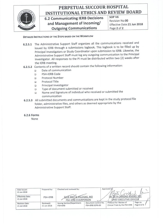 Communicating IERB Decisions & Manangeme