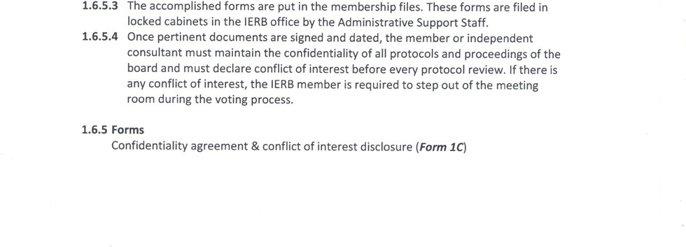 Management of Conflict of Interest and C