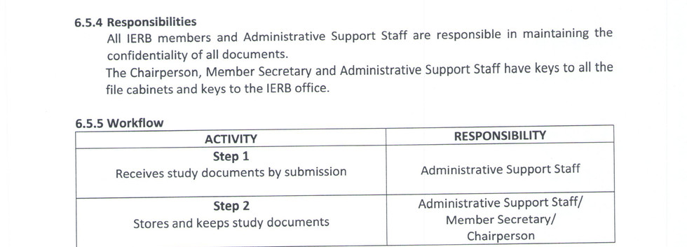Maintenance of Confidentiality of Study