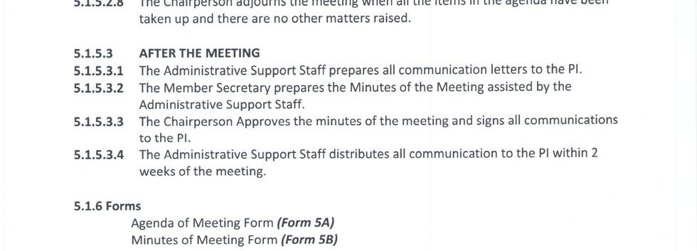 Preparation of Meeting Agenda & Conduct