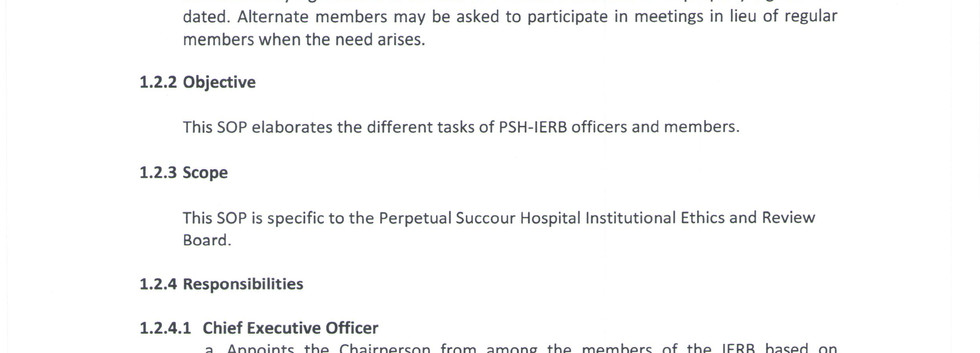Designation of Officers and Responsibili