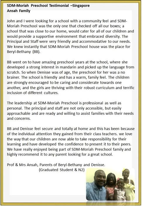 Prof & Mrs Ansah, Parents of Beryl-Bethany and Denisse